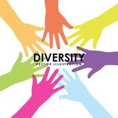 Diversity design  — Stock Vector