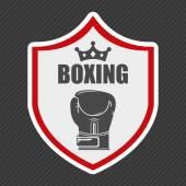 Boxing emblem  — Stock Vector