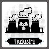 Nuclear industry  — Stock Vector
