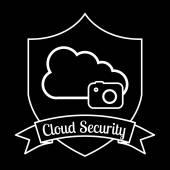 Cloud security  — Stock Vector