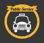 Taxi service — Stock Vector