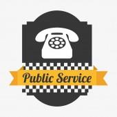 Public service  — Stock Vector