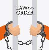 Law design, vector illustration. — Stock Vector