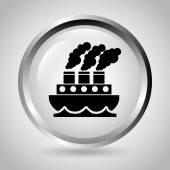 Ship icon design — 图库矢量图片