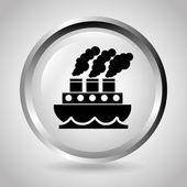 Ship icon design — Stok Vektör