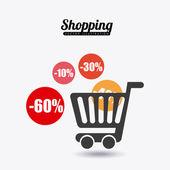 шоппинг концепция дизайна — Cтоковый вектор