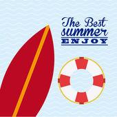 Summer day design — Stock Vector