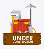 Under construction design — Stock Vector
