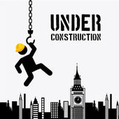 Under construction design — 图库矢量图片
