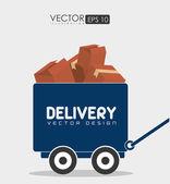 Delivery design illustration. — Stock Vector