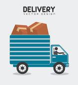 Delivery design illustration. — Stockvector