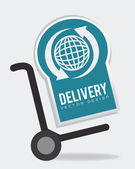 Delivery design illustration. — 图库矢量图片