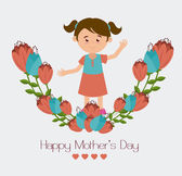 Mother day design — Stock Vector
