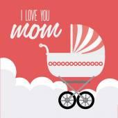 День матери дизайн — Cтоковый вектор