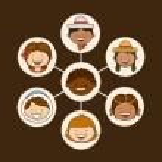 Multiethnic community design — Stock Vector #65404431
