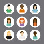 Multiethnic community design — Stock Vector #65404497