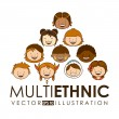 Multiethnic community design — Stock Vector #65404533