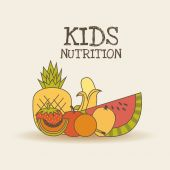 Kids nutrition design — Stock Vector