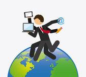 Sociala nätet arbeta — Stockvektor