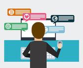 Social net working  — Stock Vector