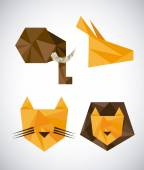 Animal abstract design — Stock Vector