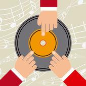 Diseño de concepto de música — Vector de stock