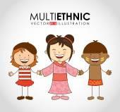 Multiethnic community design — Stok Vektör
