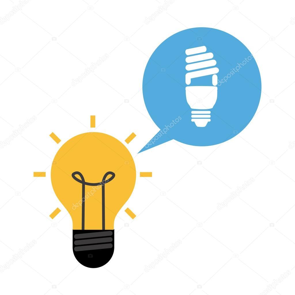 灯泡的想法设计, 矢量图