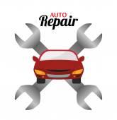 Garage design, vector illustration. — Stock Vector