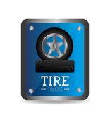 Tire design, vector illustration. — Vector de stock