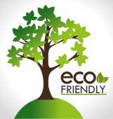 Ecology design, vector illustration. — Stock Vector