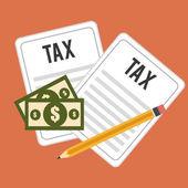 Tax design, vector illustration. — Stock Vector