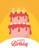 Happy Birthday design, vector illustration. — Stock Vector