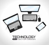 Technology design, vector illustration. — Stockvector