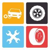 Tire design, vector illustration. — Stock Vector