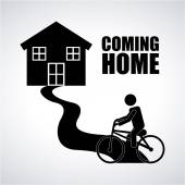 Coming home  — Stock Vector