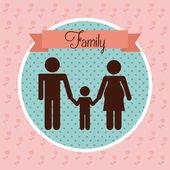 家庭之爱 — 图库矢量图片