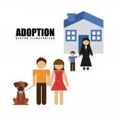 Adoption agency  — Stock Vector