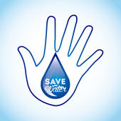 Save the water  — Stock Vector