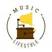 音乐的生活方式 — 图库矢量图片