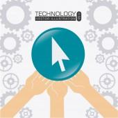 Technology design, vector illustration. — Stock Vector