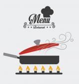 Restaurant design, vector illustration. — Stock Vector
