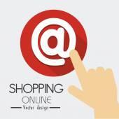 Shopping design, vector illustration. — Stock Vector