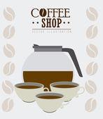 Coffee design, vector illustration. — Stock Vector