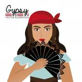 Gipsy design, vector illustration. — Stock Vector