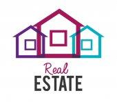 Real estate design, vector illustration. — Stock Vector