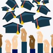 Graduation concept — Stock Vector
