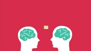 Ideas on brain illustration Video Animation HD 1080 — Stock Video