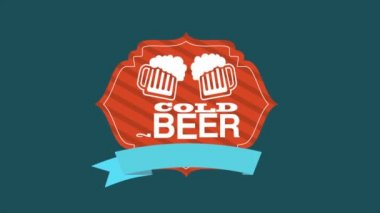 Cold Beer Video Animation HD 1080 — Stock Video