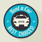 Rent a car design, vector illustration. — Stock Vector